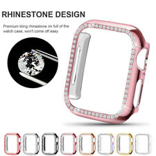 For Apple Watch Series 5 4 3 Bling Diamond Protector Bumper Cover Case 40mm 44mm