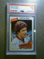 JIM PALMER 1980 Topps #590 Vintage Graded Card PSA 7 NEAR MINT BALTIMORE ORIOLES