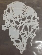 Reusable Mylar Airbrush Stencil 3 skulls Design for art, craft, graffiti, design