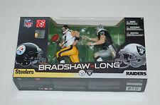 Mcfarlane NFL Terry Bradshaw Howie Long Steelers Raiders 2 pack figure statue