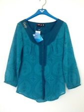 BNWT ROXY LADIES SUNDIAL BOHO TOP (AQUA) SIZE 8 RRP $59.99 LAST ONE