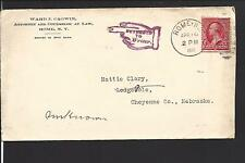ROME, NEW YORK COVER. AUXILLARY MARKING.  ATTORNEY CORNER CARD.