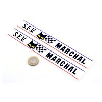 SEV Marchal Stickers Classic Car Rally Racing Decals Vinyl 200mm x2 Long Text