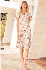 Next Satin Look Floral Dress Sz 18 Bnwt £50 Cruise Wedding