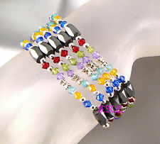 Hematite Lariat Costume Necklaces & Pendants