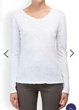 American Vintage M Sonoma Long Sleeve White 100% Cotton Top T-Shirt Blouse 10 12
