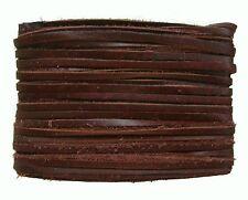 weiches Leder Flechtband Ziegenleder auf Karte dunkelbraun, Länge 10 m, Breite c