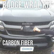 Carbon Fiber Truck Emblem Wrap Kit - Custom Chevy BowTie Badge Vinyl Decal Tahoe