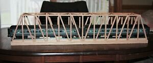 "O Gauge handmade oak thru truss bridge 36"" long for Lionel, K Line, MTH, etc."