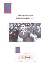 IVOR POWELL ASTON VILLA 1948-1951 VERY RARE ORIGINAL HAND SIGNED CUTTING/CARD