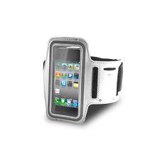 PORTACELLULARE AL BRACCIO ARMBAND SPORT CASE APPLE IPHONE 3G 3GS 4 4G 4S BIANCO