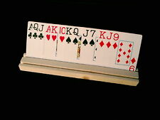 PLAYING CARD HOLDER / RACK  BRIDGE, CANASTA HANDS FREE WOODEN BEST ON NET