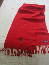 Echarpe Cachemire Rouge POLO RALPH LAUREN Red Cashmere Scarf