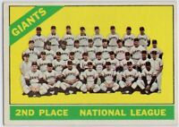 1966 Topps #19 San Francisco Giants EX-EXMT Willie Mays McCovey FREE SHIPPING
