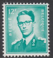 BELGIUM : 1966 King Baudouin  12F turquoise-green   SG 1470 MNH