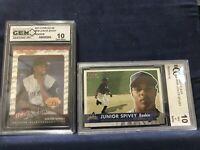 Junior Spivey 2001 Rookie Fleer BCCG 10 Mint Donruss GEN 10 Lot of Two Cards