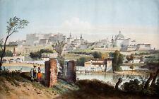 c1850 Madrid Spain Spanien Kolorierte Lithographie