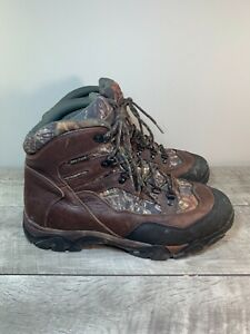 Cabela's Men's Insulated Hunting Leather Camouflage Work Soft Toe Boots Size 13