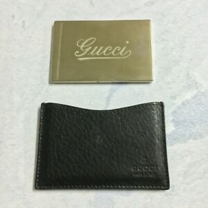 Gucci Authentic Black Leather Mirror Holder