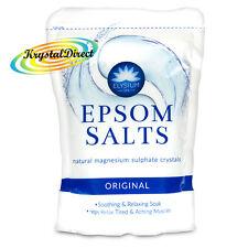 Elysium Epsom Sali da Bagno ORIGINALE solfato di magnesio cristalli rilassante bagno 450g