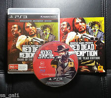 Red Dead Redemption Game Of The Year Edition (PlayStation 3, 2011) PS3 FREE POST