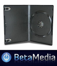 100 x Single Black 14mm Quality CD / DVD Cover Cases - Standard Size DVD case