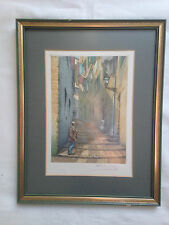 Antique Copper Plate Etching SIGNED by Victor Valery (born 1881) circa 1900