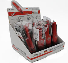 12x Taschenmesser rot Multitool Klappmesser Schweizer Messer Restposten Display