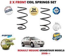 FOR RENAULT MEGANE GRANDTOUR MODELS ESTATE 2008-> NEW 2 X FRONT COIL SPRINGS SET
