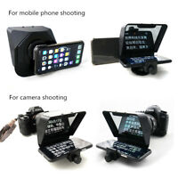 Smartphone Teleprompter Portable Camera Prompter for News Live Interview Speech
