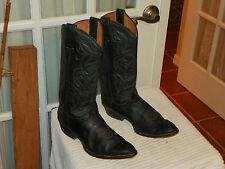 Men's RANCHO Soft Black Leather Cowboy Boots Size Mex 27.5 E US 8.5 E