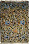 Multicolored Tribal Design Plush 2X3 Small Gabbeh Oriental Rug Kids Room Carpet