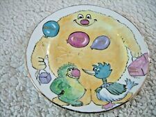 Lyme Studio Hand Painted Side Plate bone china signed by Vivienne Evision