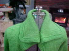 Vintage Wide Collar Green Wool Mohair Women's Sweater Very Hard To Find