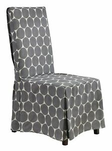 Sure Fit IKAT parson Dining Room Chair Slipcover GRAY