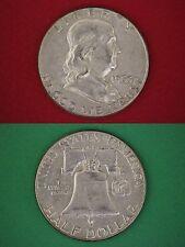 MAKE OFFER $5.00 Face Value Silver Ben Franklin Half Dollars Halves Junk Coins