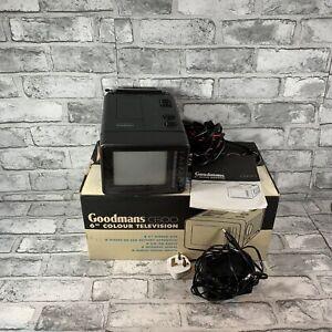 "Goodmans C600 Vintage Portable TV 6"" Screen + AM/FM Radio - READ DESCRIPTION"