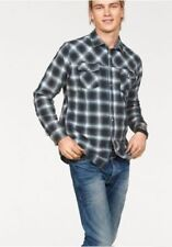 Blend Shirt Men Size S Blue Black Check Plaid 481419 NEW Long-Sleeved Business