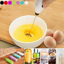 Drinks Milk Frother Foamer Whisk Mixer Stirrer Egg Beater Electric Handle Tool