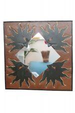 Origineller Spiegel Wandspiegel Kinderspiegel handbemalt 4 Sonne 40cm x 40cm