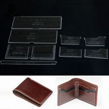 Leather Craft Clear Acrylic Short Wallet Pattern Stencil Template Tool Set  870