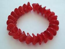 12 12 mm Three Petal Flower Beads: Coated - Raspberry Sorbet