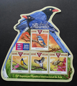 [SJ] Guinea Bissau Birds Of Taiwan 2015 (ms MNH *odd shape *Taipei Expo *unusual