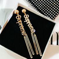 Fashion 925 Silver,Gold Drop Earrings for Women White Sapphire A Pair/set