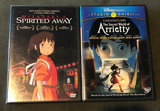 Disney Studio Ghibli Lot - Spirited Away & The Secret World of Arrietty DVD set