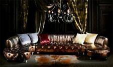 VIP Gold Designer Chesterfield Couch U Form Wohnlandschaft Polster Ecksofa Neu