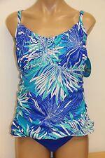 NWT Swim Solutions Swimsuit Tankini 2 pc set Size 16 Brief Blue