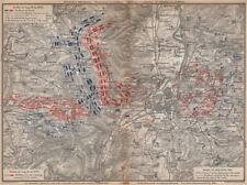 Guerre franco-prussienne. bataille de mars-la-tour borny-colombey 1870 metz 1896 carte