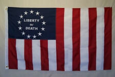 3x5 Embroidered Sewn Hunter Sons of Liberty or Death 600D 2ply Nylon Flag 3'x5'
