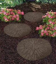 More details for cracked log stepping stones recycled rubber hard wearing durable